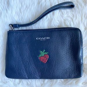 Coach wristlet with strawberry